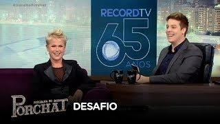 Baixar Porchat desafia Xuxa a adivinhar músicas tocadas ao contrário