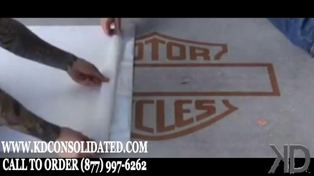 Harley Davidson Logo Stencil Installation Youtube