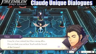FE3H All Claude Unique Dialogues - Fire Emblem Three Houses (Golden Deer)