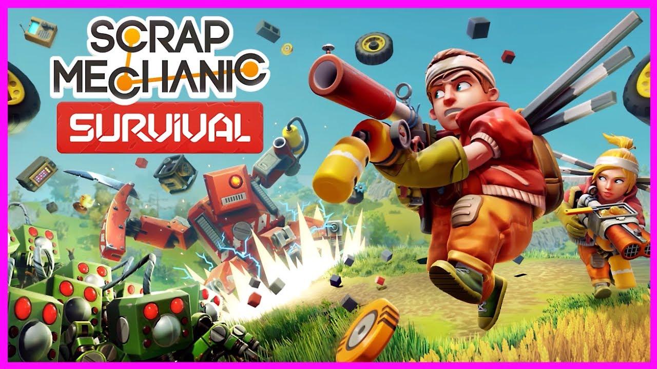 Игра для ПК Скрап Механик все серии подряд - Сборник Даник и симулятор выживания Scrap Mechanic. 13+