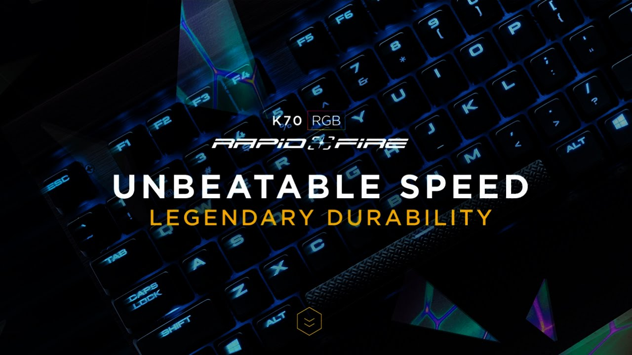 RAPIDFIRE Mechanical Gaming Keyboards UNBEATABLE SPEED