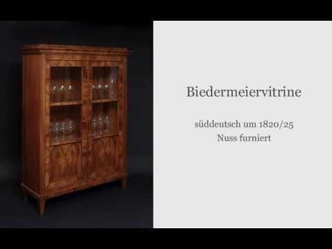 Biedermeier Möbel und mehr..Antiquitäten am Alten Hof München - YouTube