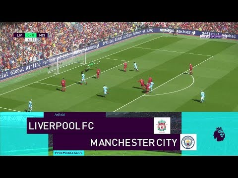 Realistic Simulation: Liverpool vs Manchester City Highlights| PES 2018 | PC | KnightMD