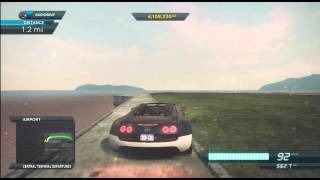 Need For Speed Most Wanted (2012) | Bugatti Veyron Grand Sport Vitesse | Top Speed Run