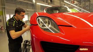 Так собирали суперкар Порше 918 Спайдер.Assembling your car Porsche 918 Spyder