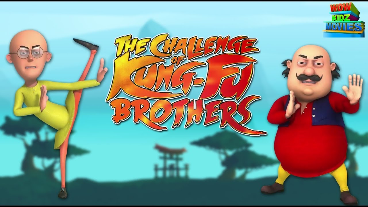 Download Motu Patlu | The Challenge Of KungFu Brothers - Full Movie | Animated Movies | WowKidz Movies