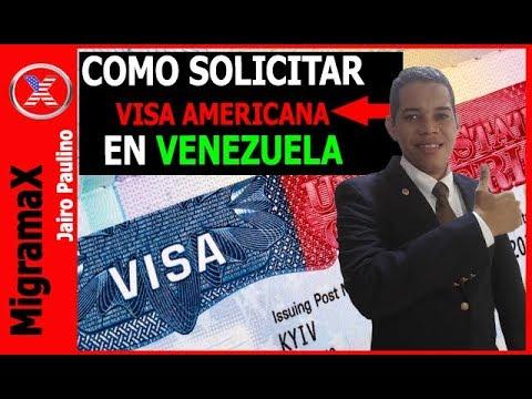 COMO SOLICITAR VISA AMERICANA EN VENEZUELA?