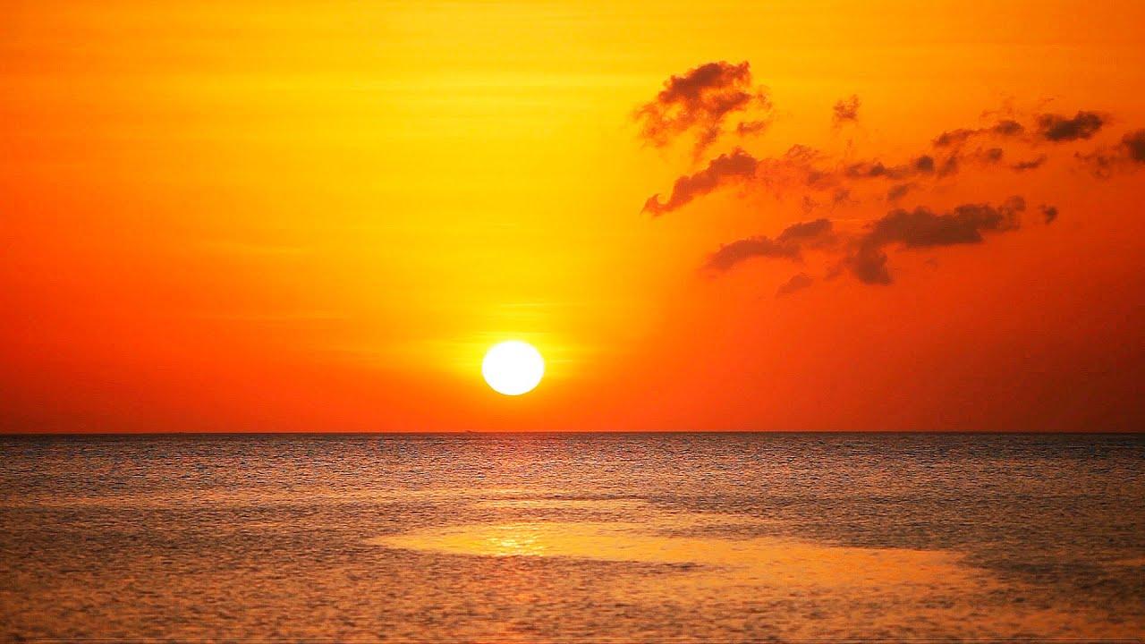 Gute Nacht  Entspannungsmusik Sonnenuntergang Meer und