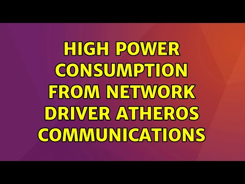 Ubuntu: High Power Consumption From Network Driver Atheros Communications