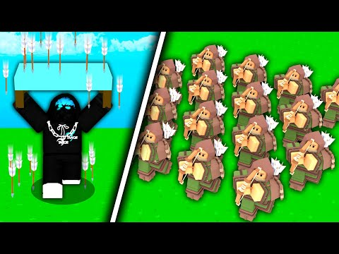 1 vs 100 PLAYERS.. Can I Win? (Roblox Bedwars)