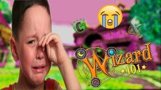 KID CRIES OVER WIZARD101 MATCH! (HE THROWS A TANTRUM)
