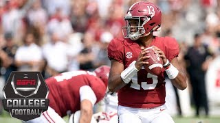 College Football Highlights: Tua Tagovailoa, Jalen Hurts lead Alabama past Arkansas State | ESPN