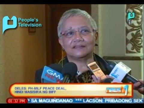 Deles: PH-MILF peace deal, hindi masisira ng Bangsamoro Islamic Freedom Fighters - 1/28/14