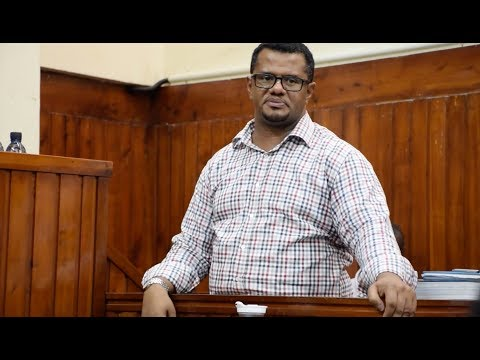 Hassan Omar testifies in court while challenging Joho's re-election