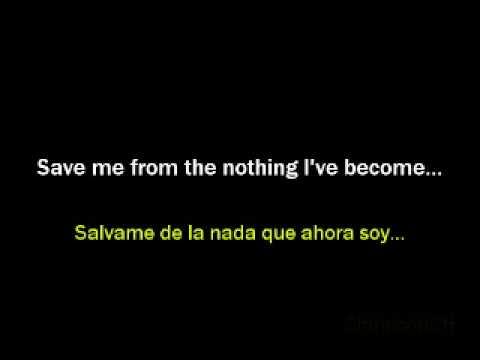 evanescence bring me to life lyrics Spanish