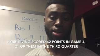 Kyrie Irving went off in Game 4 - Boston's Jaylen Brown wonders what Celtics could have done