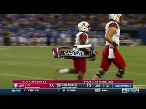 2016 Utah vs. SJSU - Zack Moss Touchdown