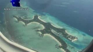 Maldives Waterplane landing at royal island