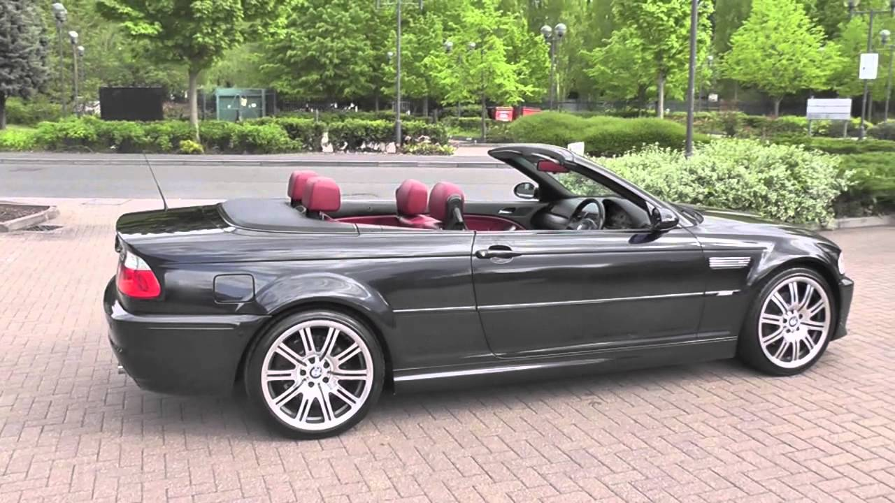 Bmw M3 Cabriolet Manual Carbon Black Imola Red 2006 Youtube