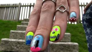 sara bareilles Nails, Nail Art Tutorial Using a Toothpick! 5 Nails, Nail Art Designs 2016