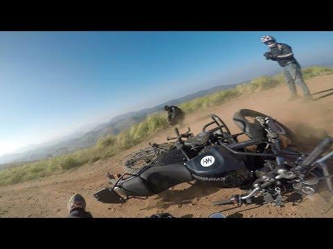 Crashing Royal Enfield Himalayan | Offroading on Himalayan - GoPro Man