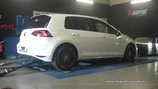 VW Golf 7 tdi 184cv DSG Reprogrammation Moteur @ 215cv Digiservices Paris 77 Dyno