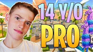 14 Year Old PRO Fortnite Kid Player! | Top 1%