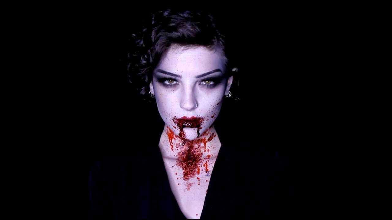 Vampire Makeup Tutorial using Mehron Makeup's Vampire Kit