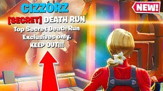 I FOUND CIZZORZ SECRET FORTNITE DEATHRUN PRACTICE!