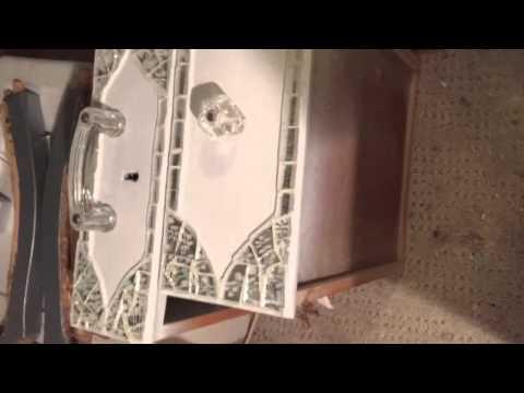 How to re-make a broken china mosaic vanity - Part 3