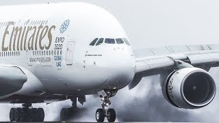 SMOOTHEST AIRBUS 380 LANDING ever !! Emirates A380 mix