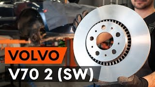 How to change front brake discs / front brake rotors on VOLVO V70 2 (SW) [TUTORIAL AUTODOC]