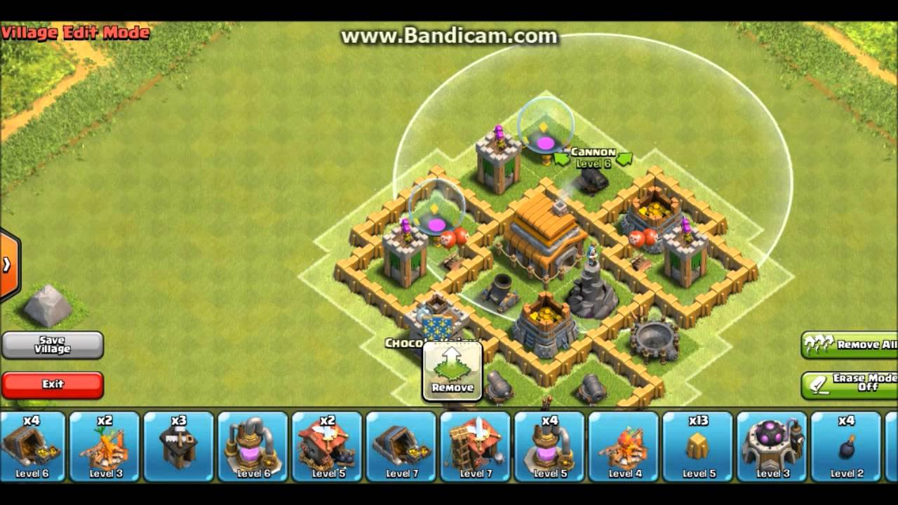 Clash of clans town hall 5 hybrid base th5 youtube