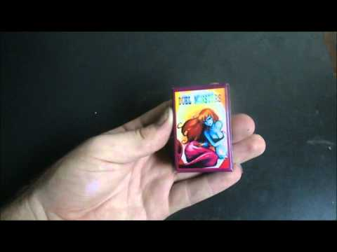 Miniture Yu-Gi-Oh playing cards.