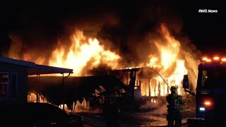 Hemet: Fully Involved Residential Structure Fire Leaves One Person Dead