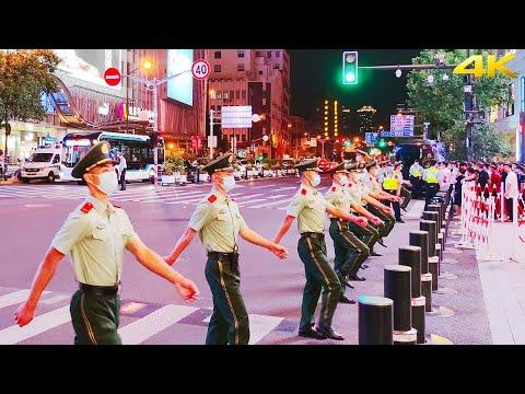 4K The Most Ritual Crossing the Road in Shanghai Downtown China National Day 2021 上海国庆节最有仪式感的过马路