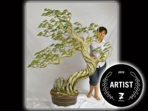 Art Prize 2012 Grand Rapids, MI - Bonsai Charm of the East by Oksana Loboda- sculpture