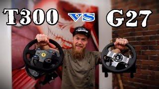 ОБЗОР и сравнение ТОПОВЫХ игровых рулей Logitech G27 и Thrustmaster T300 Alcantara Edition,