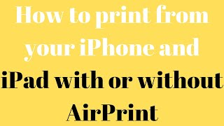 How to print from your iPhone …