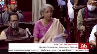 Finance Minister Nirmala Sitharaman's reply in Rajya Sabha