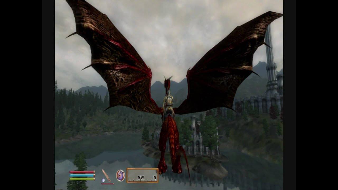 oblivion summoning dragon mount hd youtube