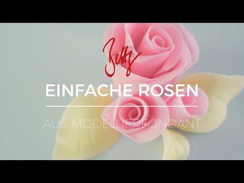 Einfache Rosen aus Modellierfondant | Betty´s Sugar Dreams