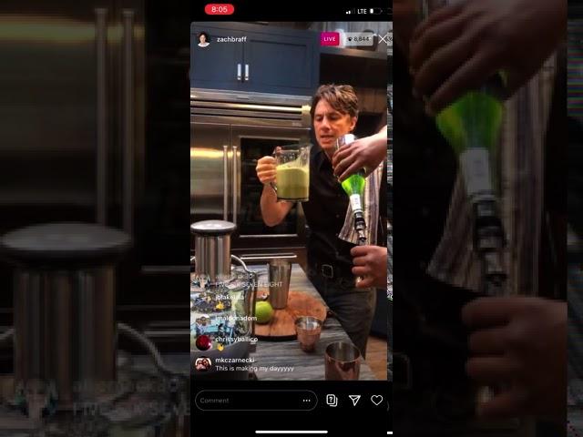 SCRUBS ACTIRS Zach Braff & Donald Faison make an Appletini on IG Live