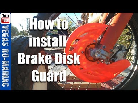 How to install Front and Rear Disk brake Guard - Dirt bike KTM 250 300