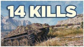E 25 • 14 KILLS per Battle • Raseiniai Heroes' Medal • WoT Gameplay