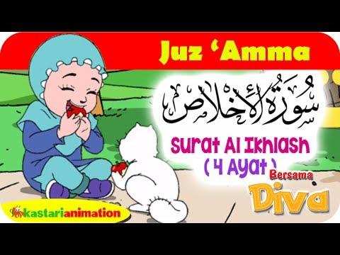 QS. AL IKHLAS | Mengaji Juz Amma bersama Diva | Kastari Animation Official