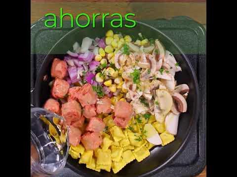 Ravioli de Queso Doria con Chorizo de res , Maíz y Champiñones