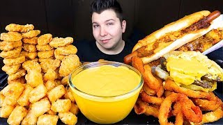 Most Popular Food For ASMR With Cheese Sauce • MUKBANG