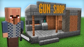 VILLAGER OPENED A GUN SHOP FOR NOOB VS PRO in Minecraft battle