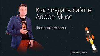 Как создать сайт в Adobe Muse.  Начальный уровень. Adobe Muse для новичков